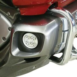 For Honda Goldwing F6b 13-17 Lower Cowl Mounted 2 Round Driving Beam Led Lights