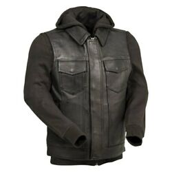 First Manufacturing Kent Menand039s Leather Jacket 5x-large Black