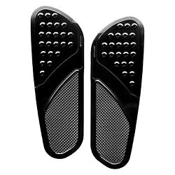 For Indian Chief 18 Drilled Vintage Style Driverand039s Floorboard Kit Solid Black