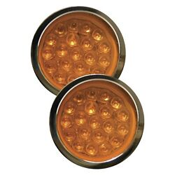 Adjure Ns11931-3 Beacon 1 Series Smooth Led Bullet Lights W Amber Lights