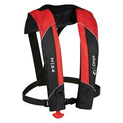 Onyx Outdoor M-24 Manual Red Inflatable Life Jacket
