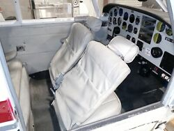 1964 Piper Pa24-260 Complete Taupe/grey Interior Seats 4 W/ Belts Panels And Trim
