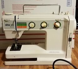 Elna 500 Electronic Sewing Machine Precision Made In Switzerland Vintage