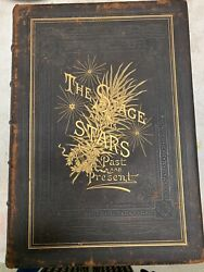 Large Antique Leather Bound Book Andldquothe Stage And Its Starsandrdquo Vol 1