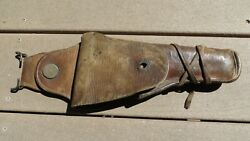 Ww1 Us Army Military M1912 Mounted Cavalry Leather Pistol Holster Field Gear