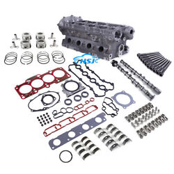 2.0t Cylinder Head And Camshaft And Gasket And Piston Repair Kit Fit For Vw Audi Bwa