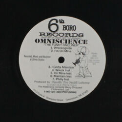 Omniscience The Funky Oneliner 6th Boro Records 12 Simple 33 Rpm