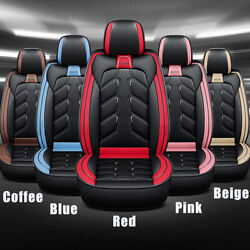 Universal Car 5 Seats Cover Pad Pu Leather Frontandrear Chair Cushion Protector
