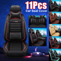 Universal 5- Seat Full Surrounding Front+rear Car Seat Cover Pu Leather
