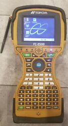Topcon Fc-2500 Handheld Data Collector With Handheld Case In Excellent Condition