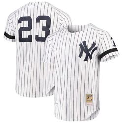 New York Yankees Don Mattingly Mitchell And Ness 1995 White Mlb Authentic Jersey