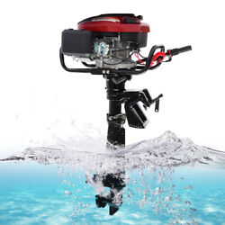 7hp Outboard Motor 4 Stroke 196cc Gasoline Power Fishing Boat Engine Air Cooling