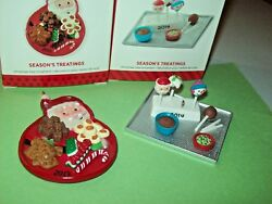 Hallmark Lot Season's Treatings Candy On Tray 5th 6th In Series 2013-14 Ornament
