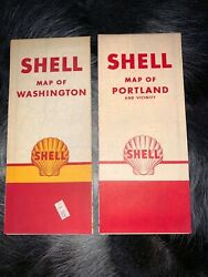 Collectibles Advertising Gas And Oil Shell Map 1950/60s