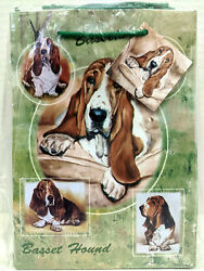 New Basset Hound Pet Dog Gift Bags Set 10 Small Bags Basset Hounds Ruth Maystead