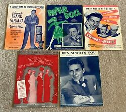 Frank Sinatra Sheet Music Lot Of 5 Movie Music Always You Paper Doll Plus More