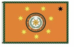 Seal Of The Cherokee Nation Orange Flag Banner 3'x5' Feet New Man Cave Large