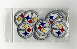 Bag Of Small Nfl Pittsburgh Steelers Iron-on Patches.mint.fast Same Day Shipping