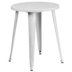 24 Round Red Metal Indoor-outdoor Table - Restaurant Furniture - Café Table