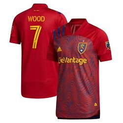 Bobby Wood Real Salt Lake Adidas 2021 Primary Authentic Player Jersey - Red