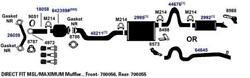7560-ag Exhaust Muffler Fits 2012-2014 Ford Expedition King Ranch