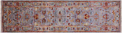 Runner Handmade Traditional Wool Rug 2and039 8 X 9and039 8 - Q8395