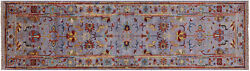 Traditional Hand Knotted Wool Runner Rug 2and039 9 X 9and039 10 - Q8384