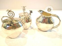 Gorgeous Silver Butterfly 2 Sugars And Creamer Emilia Castillo From Neiman Marcus