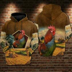Chicken Rooster 3d Hoodie For Men For Women Chicken All Over Printed Hoodie