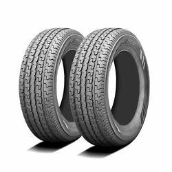 2 Tires Husky Gallant Gl Trail St 205/75r15 Load D 8 Ply Trailer