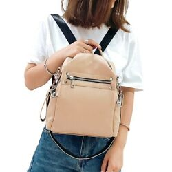 Fashion Backpack Shoulder Bag Leather Small Multi purpose Casual For Ladies $37.73