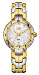 Tag Heuer Link Yellow Gold And Steel Diamonds Date Womens Watch Wat1352.bb0962