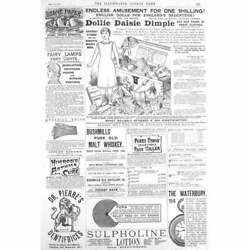 Victorian Adverts Dollie Daisie Dimple, Bushmill's Whiskey - Antique Print 1886