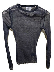 Woman#x27;s OUT FROM UNDER FOR URBAN OUTFITTERS Sheer Top Size Sm Petite Metallic Ny $14.99