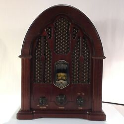Antique Ge Radio | Model 7-4100ja | Power Tested | Sound Works | 15 In Tall |