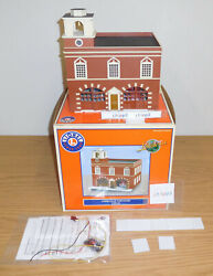 Lionel 24182 Operating Firehouse Station Building O Scale Train Layout Accessory
