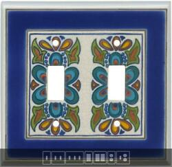 Mediterranean Ceramic Switch Plates Wall Plates And Outlet Covers