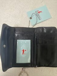 NWT Hobo International Lacy Snap Wallet With Key Holder NWT Black $43.00