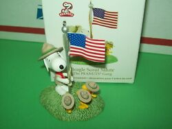 Hallmark Beagle Scout Salute Flag Snoopy And Woodstock Peanuts Gang 2012 Ornament