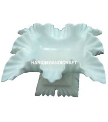 12 Antique Marble Dry Fruit Bowl Art Handicraft Natural Living Home Gifts M269