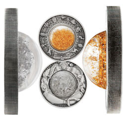 Tears Of The Moon And Golden Treasures Of Ancient Egypt 2oz Silver Antiqued
