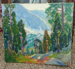 Antique Well Listed Paul Lauritz Landscape Plein Air California Painting