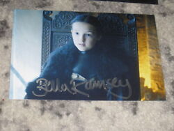 Bella Ramsey Signed 4x6 Game Of Thrones Photo Autograph 1d