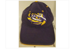 Hot - Vintage Lsu Tigers Eye Of The Tiger Hat/cap Purple Gold