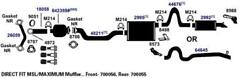 Exhaust Muffler For 2008-2011 Ford Expedition King Ranch