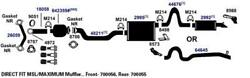Exhaust Muffler For 2012-2014 Ford Expedition King Ranch