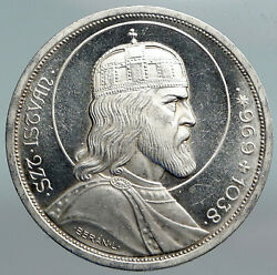 1938 Hungary King Saint Stephan Vintage Old Silver 5 Pengo Hungarian Coin I90233