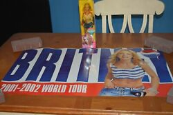 Hot And Sexy Britney Spears Pepsi Outfit Doll Blue Skirt White Top + Free Poster