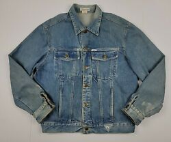 Guess Jeans Georges Marciano Vintage 80s U2 Band Hand Painted Denim Jacket Xl