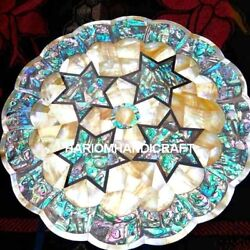 15 Marble Plate Pattern Of Pauashell+abalone Antique Inlaid Occasion Gifts M038
